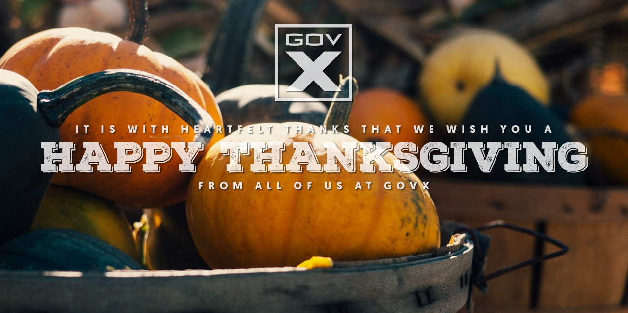Happy Thanksgiving from the GovX Staff